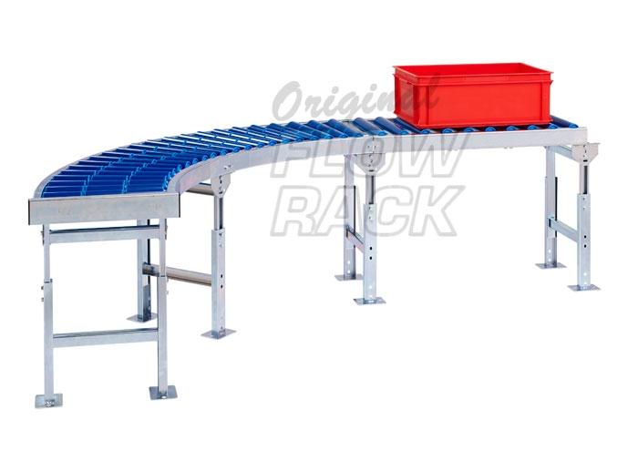 Roller conveyor curve 90-degrees